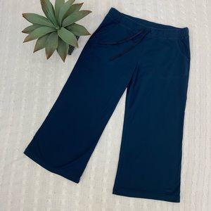 Patagonia navy cropped wide leg Capri pants medium